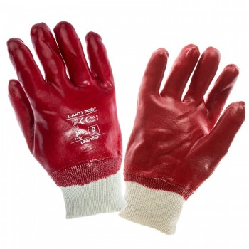 GLOVES PVC RED L240110P, CARD, '' 10'' , CE, LAHTI