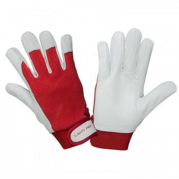 Handskar, st. 8, äkta getkinn, bomull, spandex, CE, EN 420, EN 388 (2122), Lahti Pro L2702