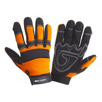 Handskar, st. 9, svart-orange, spandex, mikrofiber, CE, EN 420, Lahti Pro L2805