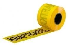 Markeringsband Kraftkabel Gul