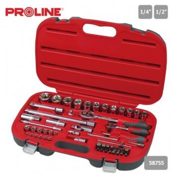Hylsnyckelsats 55 Delar Proline Tools