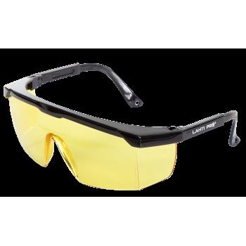 Skyddsglasögon gula, justerbara bågar, skyddsklass F, CE, LAHTI