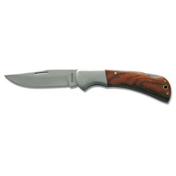 Universalkniv, ihopfällbar med trähandtag, rostfritt stål, 60mm, Proline