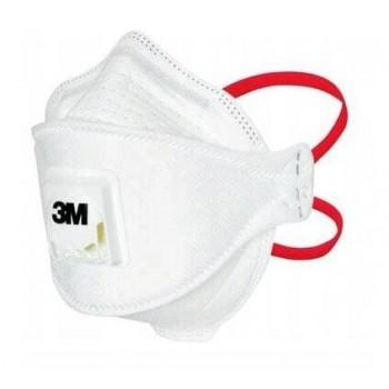 Andningsskydd, 1st andningsmask 3M™ Aura™ 1873V+ skyddar mot virus bakterier m.m. FFP3, CE