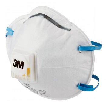 Andningsskydd 1st, andningsmask 3M 8822 skyddar mot virus bakterier m.m. FFP2, CE (minsta order 2st)
