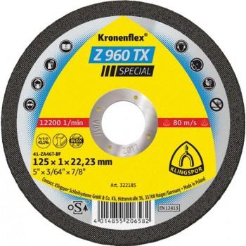 Kapskiva för metall INOX,STEEL,FE,TYT. 115 1.0 22.2 platt