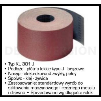 Sandpapper tyg, rulle 30 m. - BTL - ELATEX - 200mm x 1m, kornst. 36 KL381J