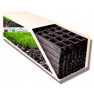 Gräskantsavskiljare Double Strength 48meter x 4.5cm höjd, inkl. 140 ankare, gräskantband, 100% recycling, GardenGuru