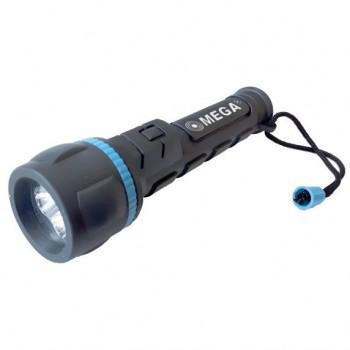 Ficklampa, gummi 3xLED 2XAA svart, CE