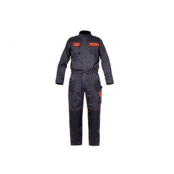 "COVERALL GRAPHITE-ORANGE, 190GM2, "" M (50)"" , CE, LAHTI"