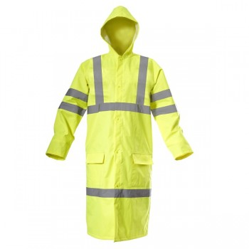 "HIGH VISIBILITY RAINCOAT, gul, "" M"" , CE, LAHTI"
