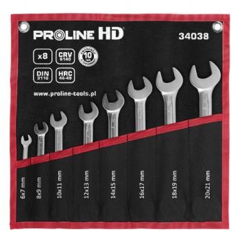 Blocknyckelsats  8st 6X7-20X22mm, DIN 3110, CV, PROLINE HD