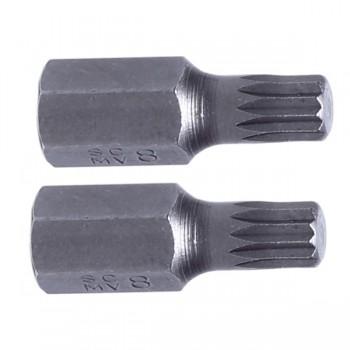 "Splines bits 3/8"" (10mm) M5-M12, 2 st. S2, Proline"