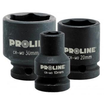 "Krafthylsa 1/2"" 10-32 mm, 6-kant, Cr-Mo (slaghylsa), Proline"