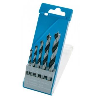 Träborr, sats 5st 4-10mm, platt plastask, PROLINE