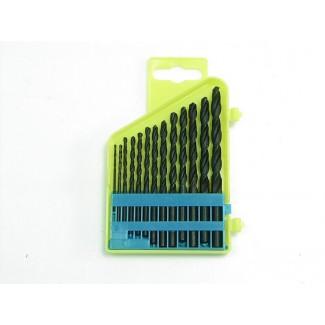 Metallborr HSS (spirallborr) sats 13st, för metall, 1,5-6,5mm med 0,5mm mellan varje st. , MEGA