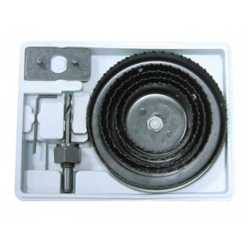 Hålsåg bi-metall sats 8 delar 64-127mm max djup 25mm