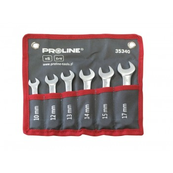 U-ringnyckelsats, kombinyckelsats, blocknyckelsats, 6st korta 10-17mm, PROLINE