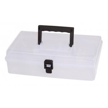 Förvaringsbox, organiser med handtag 5 fack 24.5x15x85 cm transparent