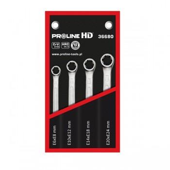 Ringnycklar TORX, sats 4st, E6-E24, PROLINE HD