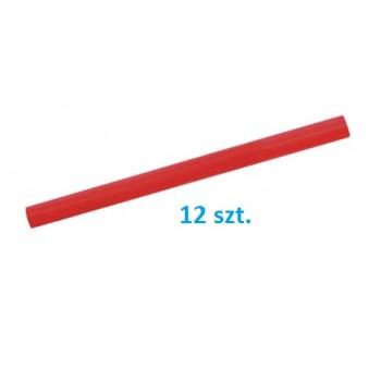 Blyertspenna röd, 180mm, oval, sats 12st.