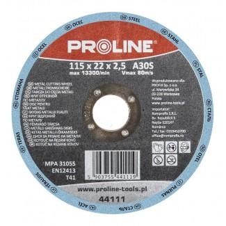 Kapskiva för metall, T41, 125x1.0x22 A60S PROLINE