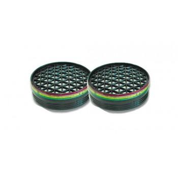 UNO NEW filter A1, B1, E1, K1, ABEK, för skyddsmasken med art.nr. 46063, 2st.
