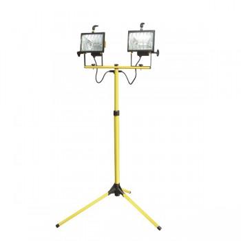 Dubbel Halogenlampa med ställning, 2 X 500W, MEGA