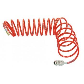 Slang, spiral tryckslang, polyethylen, 5-20m 120psi, 6 bar, 6mm inv./8mm utv.