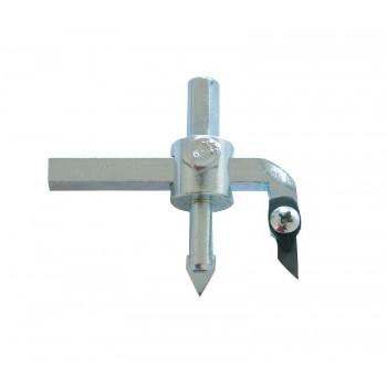 Hålsåg, hålskärare för kakel 30-110mm justerbar, utbytbar kniv