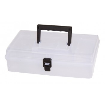 Förvaringsbox, organiser med handtag 5 fack 24.5x15x85 cm violett färg