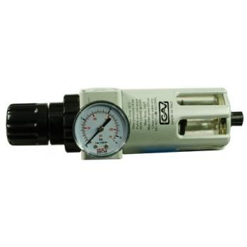 """Begränsare för tryckluft med filter FR-200 3/8"""" 0-10 bar, 14 bar innuti"""
