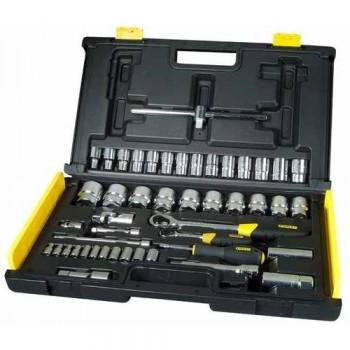 """Hylsnyckelsats Micro Touch, 65st, 1/4"""" och 1/2"""", 2 spärrskaft, Stanley-94-659"""