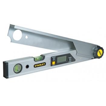Vinkelmätare med vattenpass, digital med LCD skärm, 0-180 grader, nogrannhet 0.1gr., 40cm, aluminium, Stanley