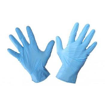 Arbetshandskar 100 st. nitrilhandskar, engångshandskar blåa, CE, EN 420, Lahti Pro