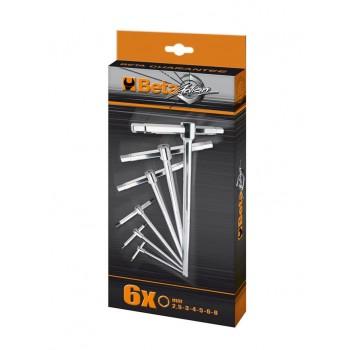 T-handtag insex 2.5-8mm, sats 6st, Beta Tools