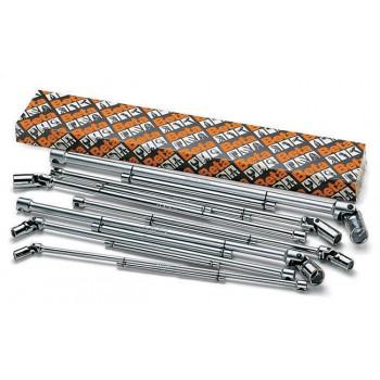 T-handtag med svivlande hylsor, sats 7st 8-19mm (hylshandtag), Beta Tools