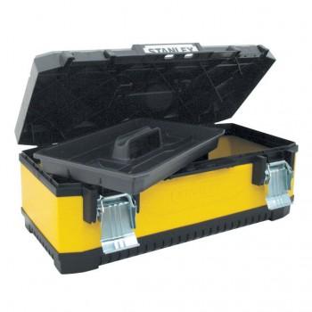 "Verktygsväska, box 20"" gul/svart, plast/metall, Stanley"