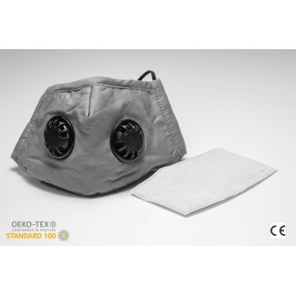 Andningsskydd med två ventiler + 1st utbytbar filter, tvättbar andningsmask, 100% bomull, skyddar mot virus bakterier, m.m. CE, N95 - N99, FFP2 - FFP3, PM2.5