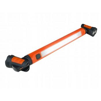 Lång smal arbetslampa 600LM, vridbara magneter, laddbar, krok, USB
