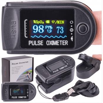 Pulsoximeter, syremätare, färg OLED display, 30-250bpm