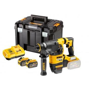 Borrhammare 3 funktioner inkl. väska, laddare, 2 batterier 6Ah, 54V XR FLEXVOLT, SDS PLUS, Dewalt
