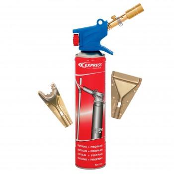 Gasbrännare sats med 3 munstycken, butan/propan