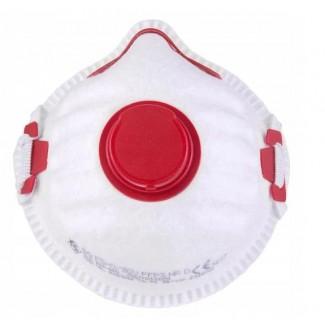 Andningsskydd 10st, andningsmask med ventil, skyddar mot virus bakterier m.m. FFP3, CE