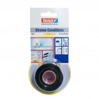 Gängtätning Xtreme, silikontape för tätning av rör 25mm, 3 meter, svart, Tesa® 4600 Professional