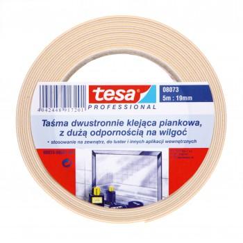 Dubbelsidig tejp mjuk TESAFIX 5M:19MM, vit, Tesa