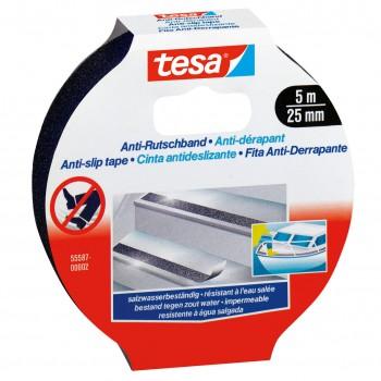 Halkskydd för golv och trappor 5M:25MM, svart, Tesa