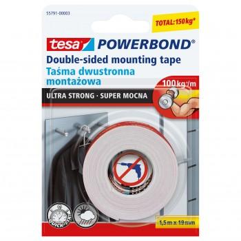 Monteringstejp, extra stark POWERBOND 1,5M:19MM, Tesa