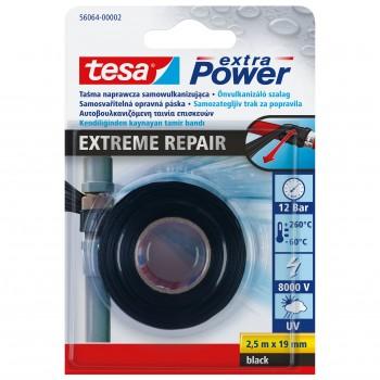 Rörtejp, eltejp, gängtätning Xtreme, silikontape för tätning av rör 25mm, 3 meter, svart, Tesa