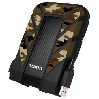 """Extern hårddisk 2T USB, tålig, liten bärbar backup disk 2.5"""", militär camo-skal, HD710 Pro 2TB USB 3.1, Adata"""